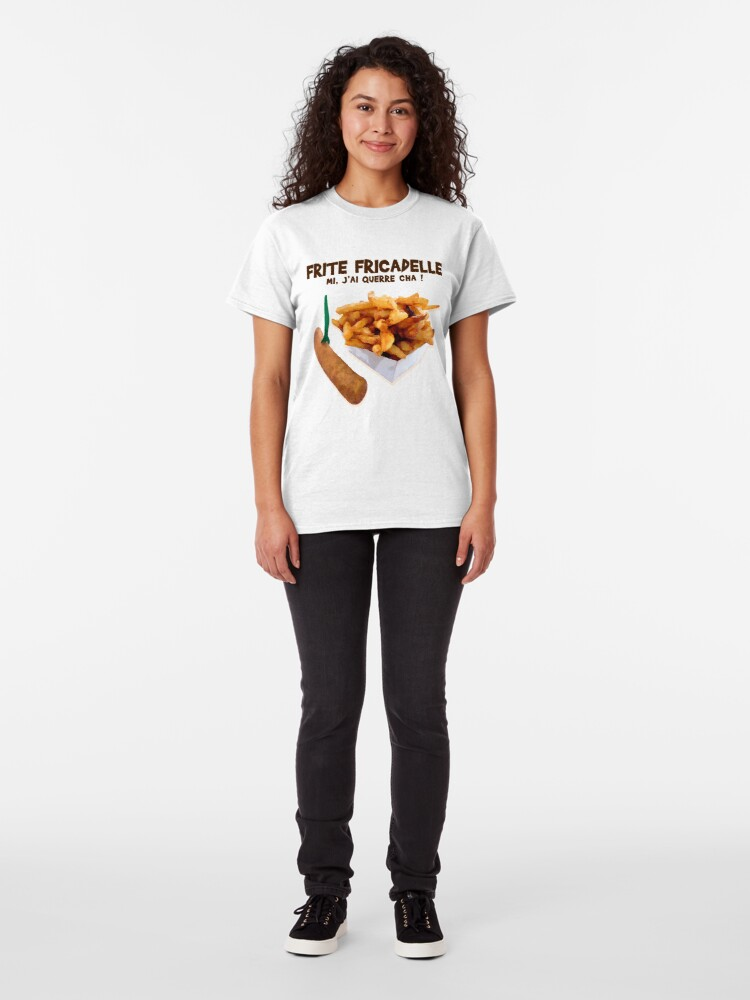 Alternate view of Fries Fricadelle, mi I querre cha! Classic T-Shirt