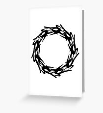 Corona - The Victorious Crown of Champions (Black) Greeting Card