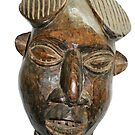 Old West African Wooden Mask by Remo Kurka