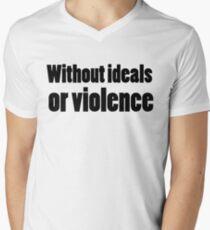 Bob Dylan Rock Lyrics Without Ideals Or Violence Mens V-Neck T-Shirt