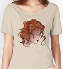 Red Haired Girl Women's Relaxed Fit T-Shirt