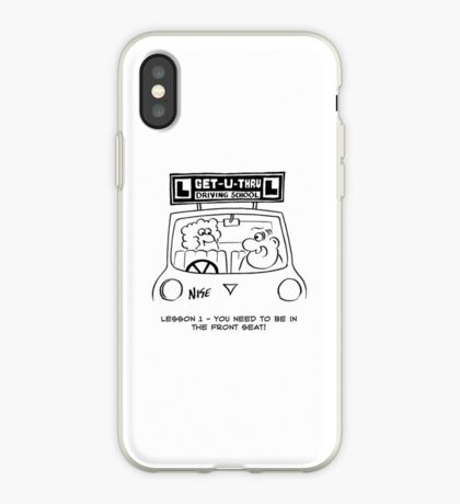 Driving Lesson - Pupil in the wrong seat iPhone Case