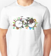 Global Bicycle round the world - save the planet design Unisex T-Shirt