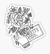 pretty. odd. flowers Sticker