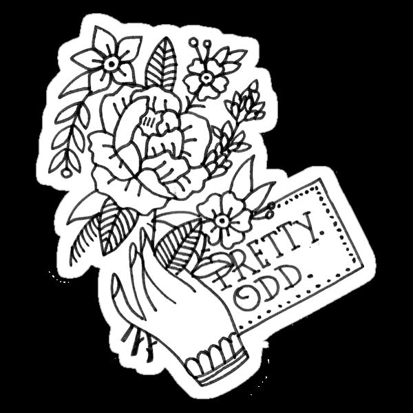 Quot Pretty Odd Flowers Quot Stickers By Jacksonoli Redbubble