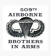 Jump Wings - 509th Airborne - Brothers in Arms Photographic Print