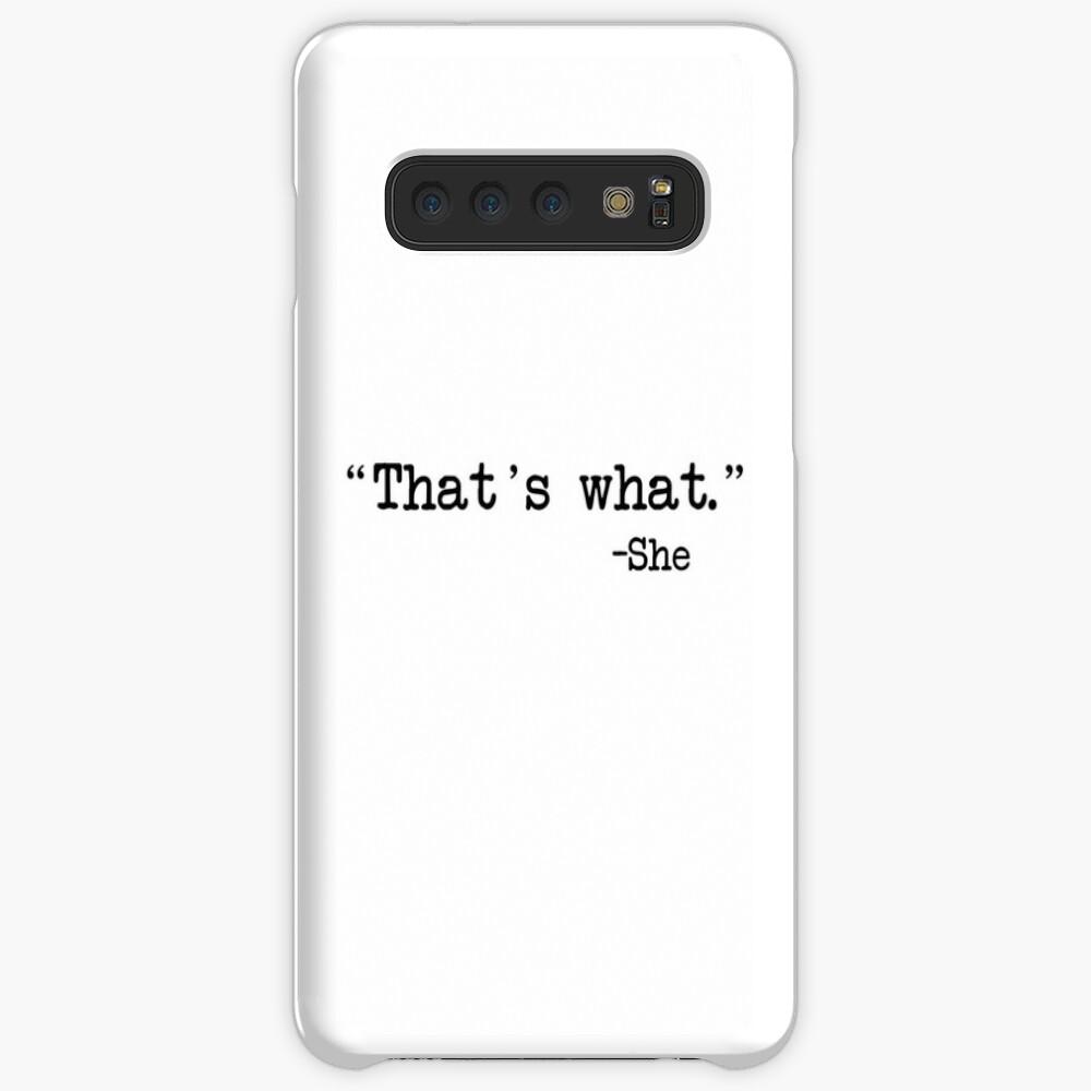 Eso es lo que ella dijo Funda y vinilo para Samsung Galaxy