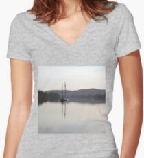 Dreamy Morn, Soft Light (Johnstone River, Innisfail, Qld. AU) Women's Fitted V-Neck T-Shirt