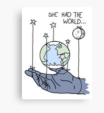 She Had The World Lyrics Canvas Print