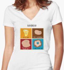 Radiobread Women's Fitted V-Neck T-Shirt