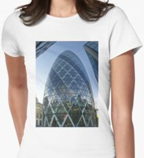 London The Gherkin - St Mary AXE, 180 m. / 590 f Womens Fitted T-Shirt