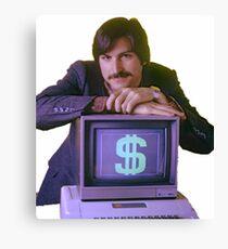 Steve Jobs Money Sign Canvas Print