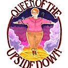 Barb Queen of The Upside Down Stranger Things White Outline by Jason Edward Davis