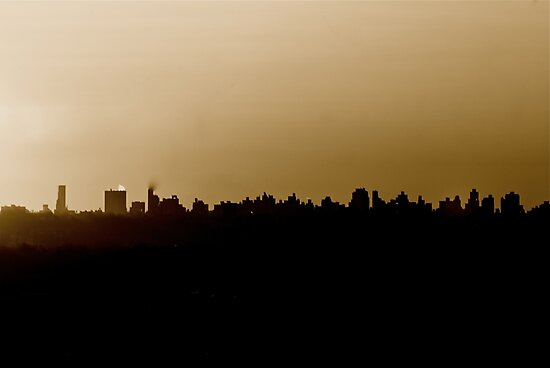 Hazy Day over NYC by Legend  Photography