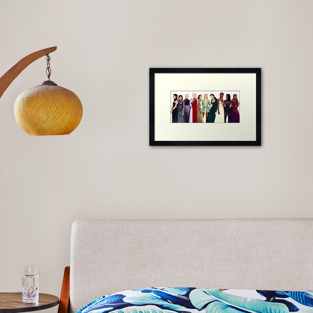Women from Throne of Glass Framed Art Print