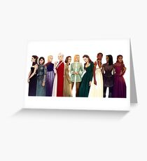 Women from Throne of Glass Greeting Card