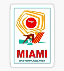 """EASTERN AIRLINES"" Vintage Fly to Miami Print Sticker"