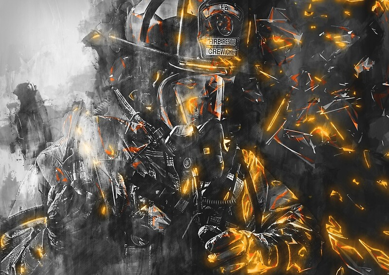 Firefighter Wall Art firefighter: posters | redbubble