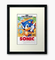 Sega Genesis Sonic The Hedgehog Video Game Cover  Framed Print