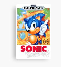 Sega Genesis Sonic The Hedgehog Video Game Cover  Canvas Print