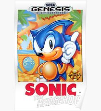 Sega Genesis Sonic The Hedgehog Video Game Cover  Poster