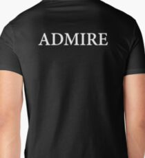 ADMIRE text white T-Shirt