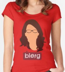 Liz Lemon - Blerg Women's Fitted Scoop T-Shirt