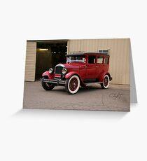 1927 Paige 8-85 Sedan Greeting Card