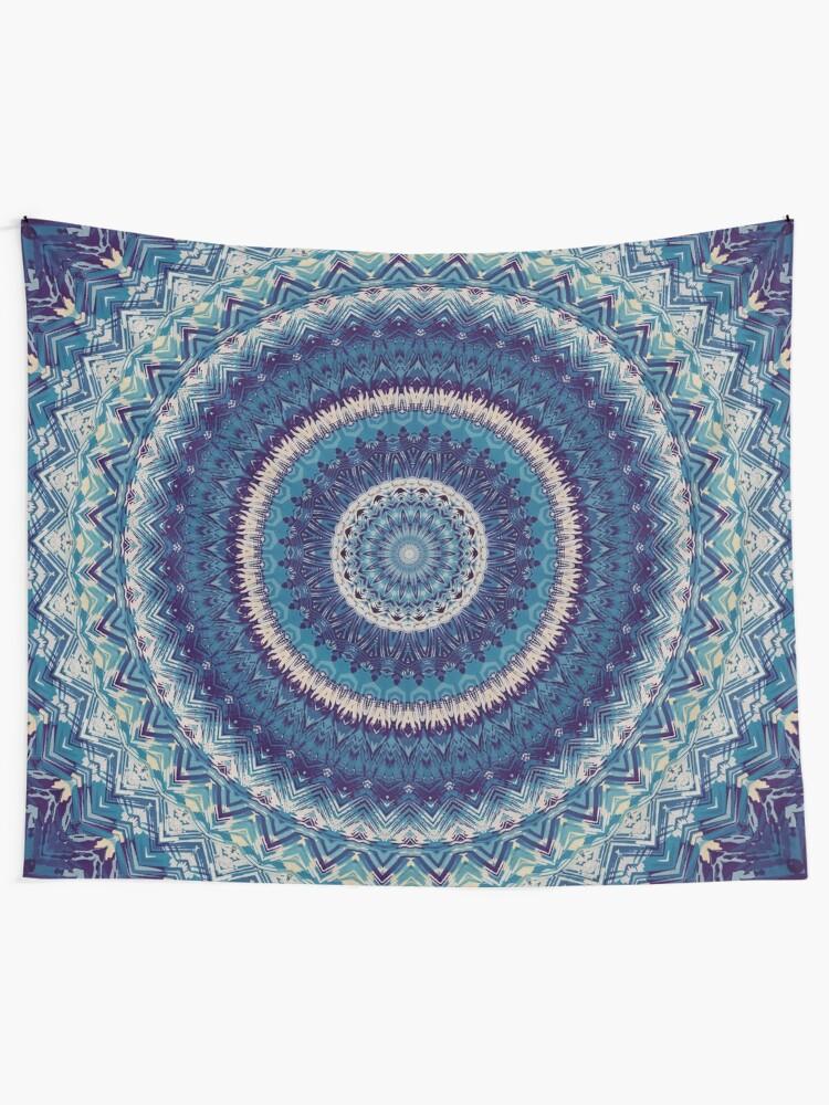 Alternate view of Mandala 20 Tapestry