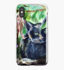 Midnight with Fairy in the Woods iPhone Case