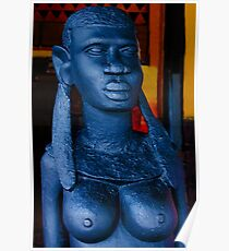 Statue of an African Woman Poster