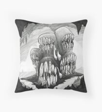 Mouth Horde Lord in the Carverns Throw Pillow