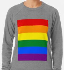 Gay Pride Rainbow Flag Lightweight Sweatshirt