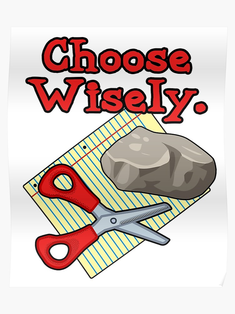 0433f74c Funny Choose Wisely Rock Paper Scissors Humor T-Shirt