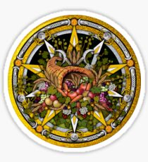 Sabbat Pentacle for Mabon the Autumnal Equinox Sticker