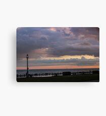 Brighton Beach Sunset Canvas Print