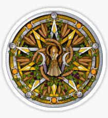 Sabbat Pentacle for Lughnasadh, First Harvest Sticker