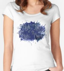High Lady of the Night Court Women's Fitted Scoop T-Shirt