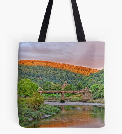 12th century Tintern Abbey, in Wales Tote Bag