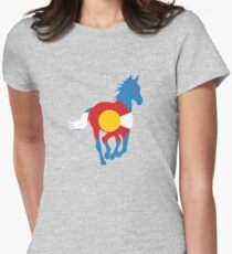 Colorado Wild Horses: Colorado Hometown Series Women's Fitted T-Shirt