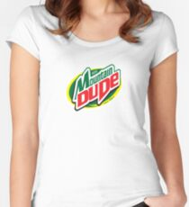 Mountain Dude Women's Fitted Scoop T-Shirt