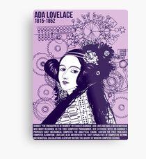 Illustrating Great Minds - Ada Lovelace Metal Print