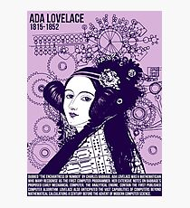 Illustrating Great Minds - Ada Lovelace Photographic Print