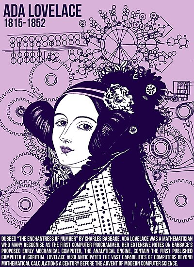 Illustrating Great Minds - Ada Lovelace by Ben Crombie
