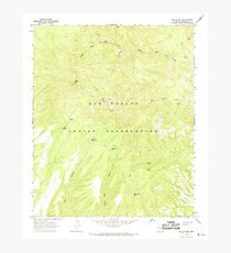 USGS TOPO Map Arizona AZ Willow Mtn 314130 1967 24000 Photographic Print