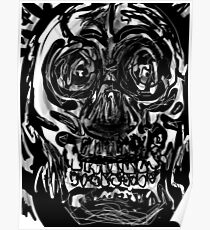 Skull drawing -(151215)- iPad/Zen brush App. Poster