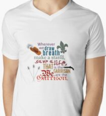 The Musketeers - We Are the Garrison Men's V-Neck T-Shirt