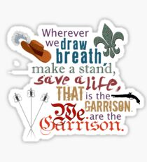 The Musketeers - We Are the Garrison Sticker