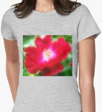 red beauty 2  fractalized Womens Fitted T-Shirt