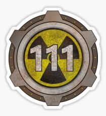 Radioactive fallout bunker shelter (7 in binary) Sticker